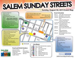 Sunday Streets map 2015