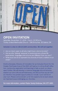 Inclusion Workshop @ Trinity United Methodist Church | Salem | Oregon | United States